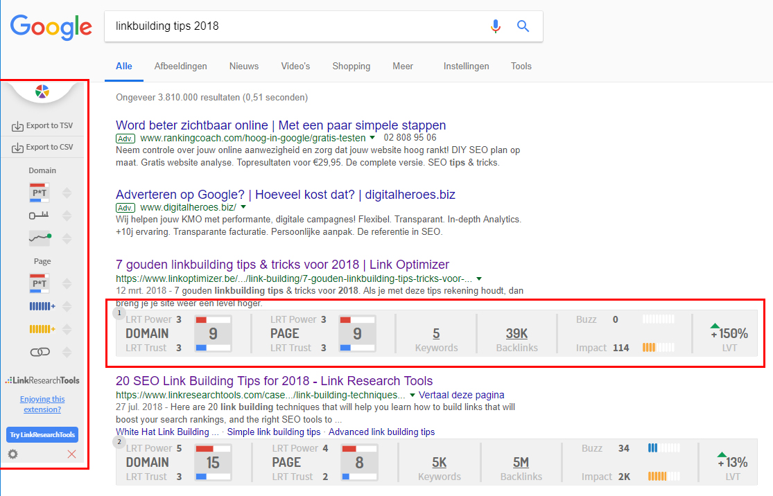 Link Research SEO Toolbar